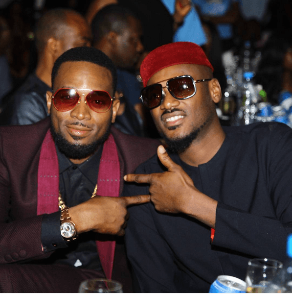 D'banj & 2Face at 2Face Idibia FORTYfied Concert in Lagos
