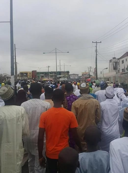 Kwara state people during Eid prayers