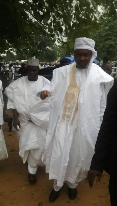 Senate President Bukola Saraki arrived for Muslim Eid al-Adha prayers