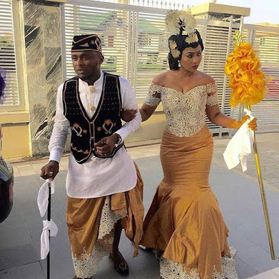 Ubi Franklin & Lilian Esoro White Wedding Photos 05
