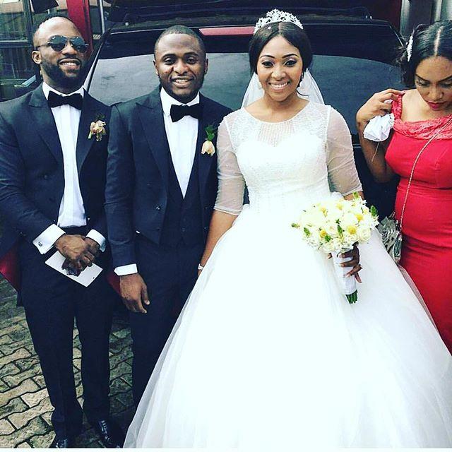 Ubi Franklin & Lilian Esoro White Wedding Photos