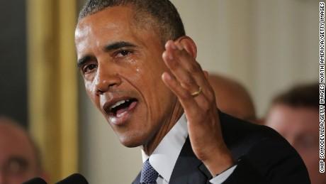Barrack Obama crying over gun control bill