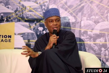 Senate President Dr Bukola Saraki, anwering hardest question about the national assembly and his trial at Code of Conduct Tribunal