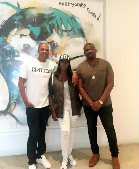 #NaijaToTheWorld : Tiwa Savage & Don Jazzy Meet Jay-Z as Tiwa Savage Signs Roc Nation Deal