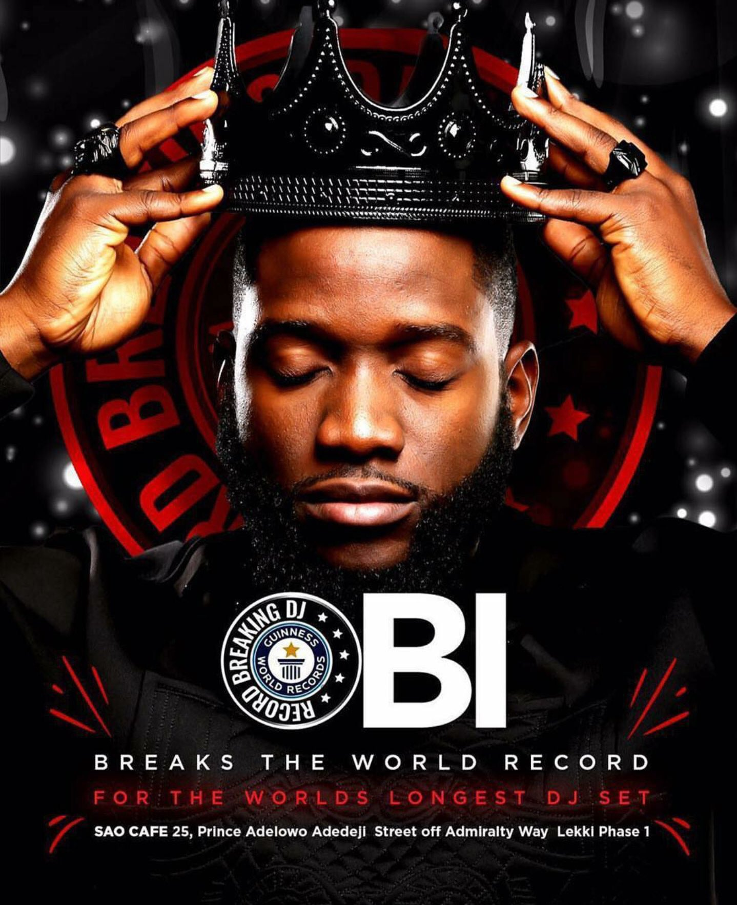 #DJObiWorldRecord : Nigerian Disc Jockey DJ Obi Beat Guinness World Record for Longest DJ Set