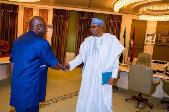 David Mark and President Buhari