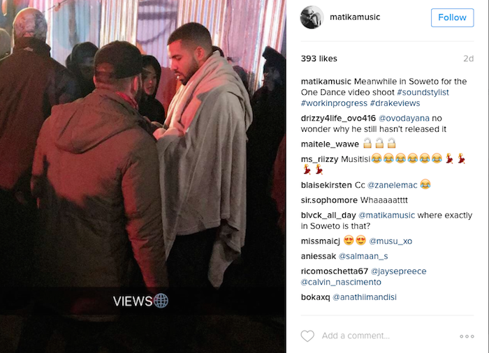 """Did Nigerians Overhype Wizkid? Rap Star Drake Shoot """" One Dance """" Video in South-Africa Without Wizkid"""