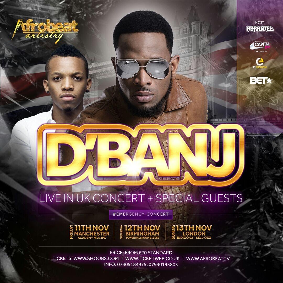 Four Years After, Nigerian Music Legend D'banj Announces Biggest UK Headline Tour