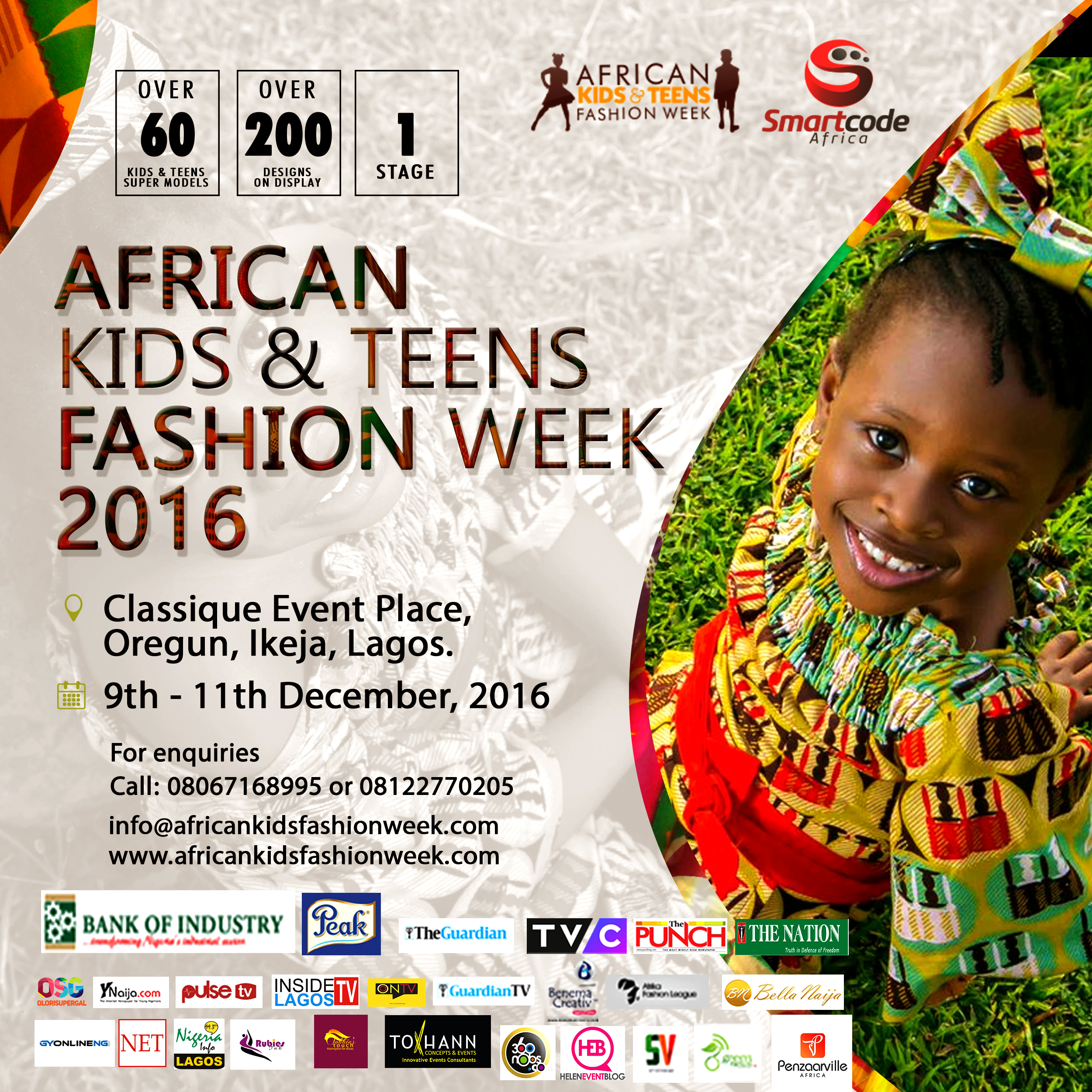 Lagos set to host the Biggest Fashion Show for Kids and Teens – African Kids and Teens Fashion Week 2016