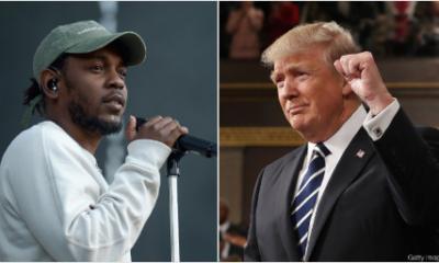 Donald Truump and Kendrick Lamar