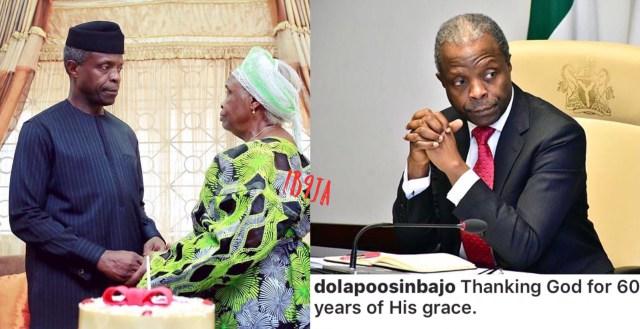 Happy 60th Birthday to Nigeria's Acting President Prof. Yemi Osinbajo + Birthday Cake He Receives from His Mother