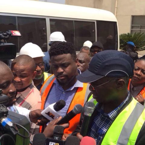 Davido's Brother Takes Fashola & Amosun on Tour of their Family Power Plant in Ogun
