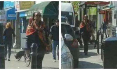 Diezani Alison-Madueke Walking Freely in UK