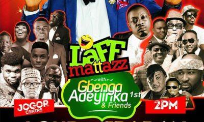 Laff Mattazz with Gbenga Adeyinka