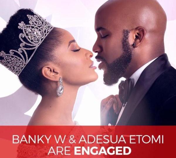 Banky W & Adesua Etomi Are Engaged