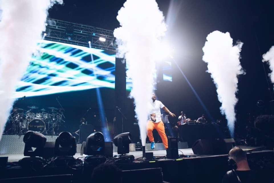 Cassper Nyovest performing at One Africa Music Fest London