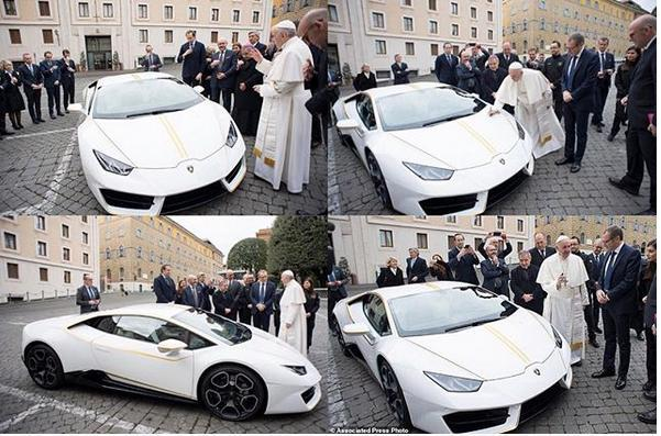 Lamborghini Gives Pope Francis Personalized Car as Gift, But Plans to Auction it for Charity