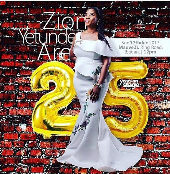 GYOnlineNG Exclusive : Yetunde Are Set To Host 25-Years On Stage Live Concert
