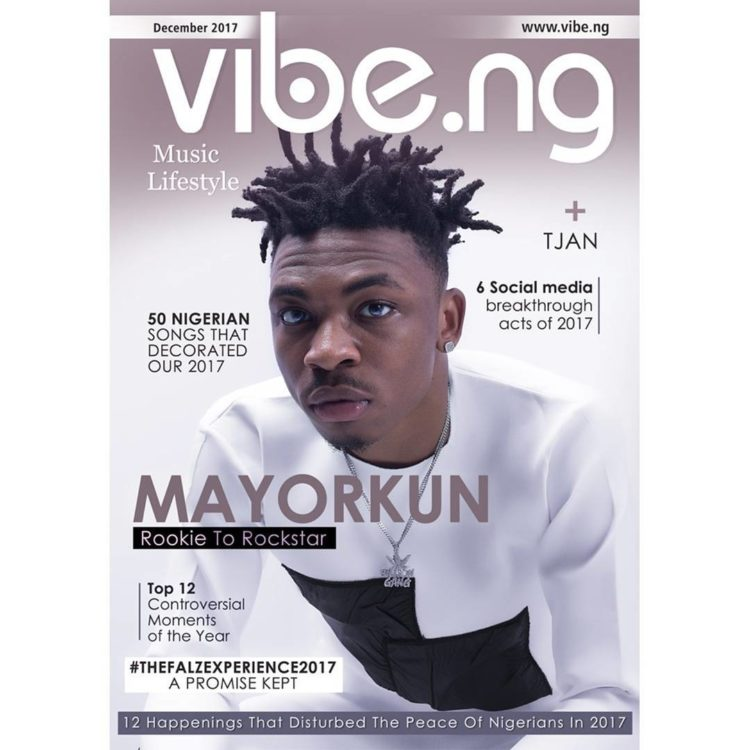 Mayorkun On Cover of Vibe Magazine 01