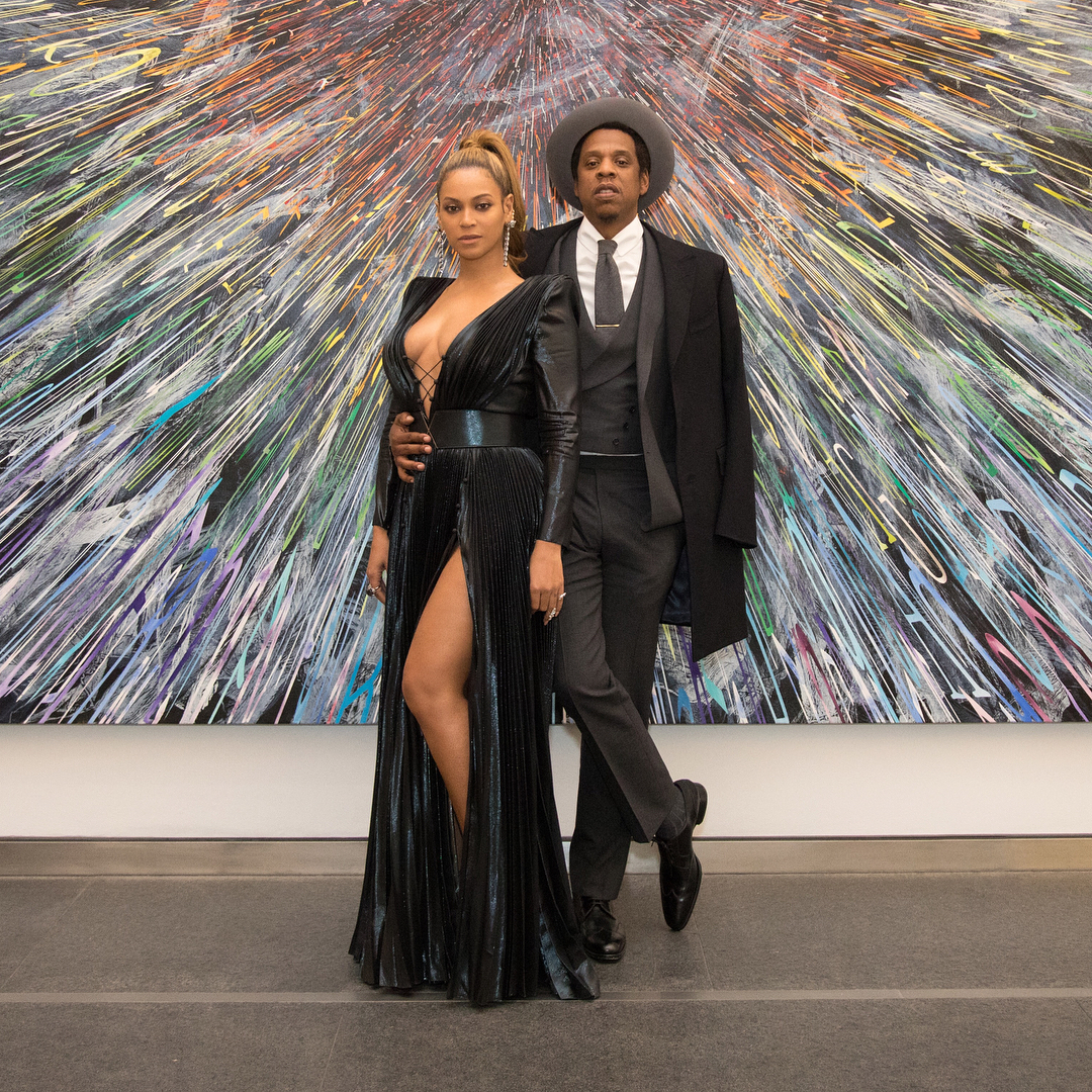 Beyonce and Jay-Z at Grammy Awards Pre-Party
