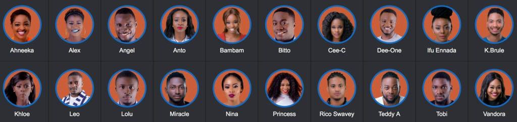 Image result for big brother naija 2018 housemates