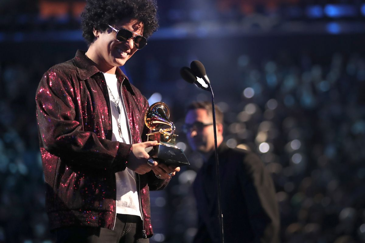 Burno Mars At Grammy Awards 2018