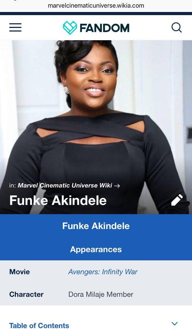 Funke Akindele in Avengers
