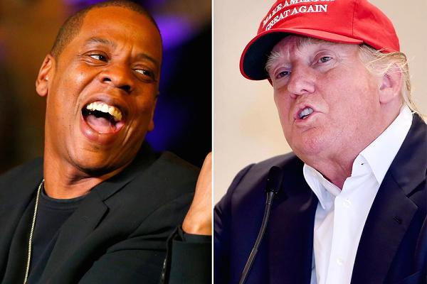 Jay-Z and Donald Trump
