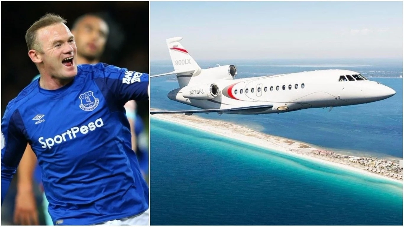 Wayne Rooney Private Jet