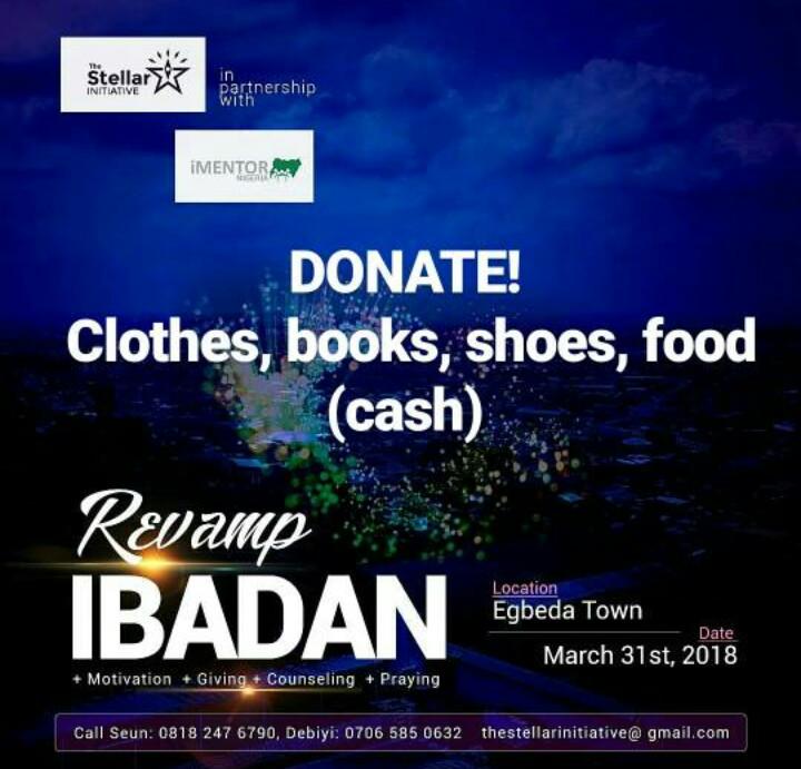 The Stellar Initiative Takes Help to Egbeda Town Ibadan