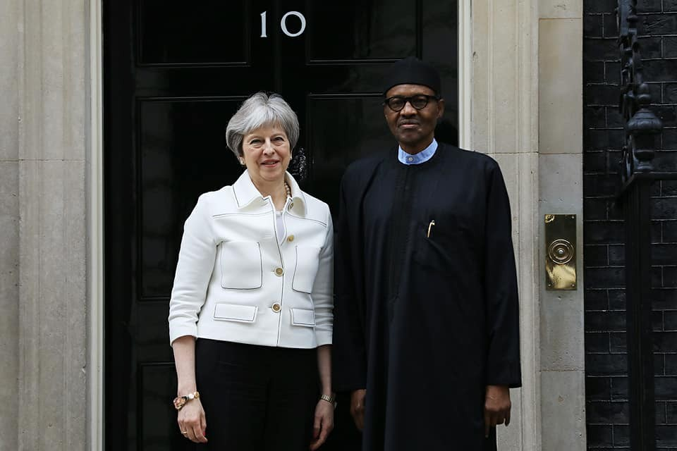 Theresa May and Buhari 02