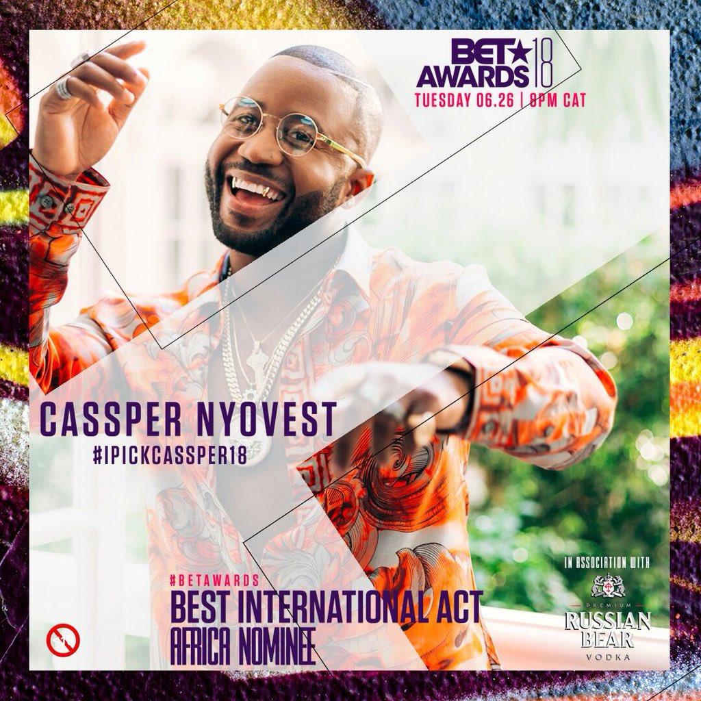 Cassper Nyovest BET Nomination