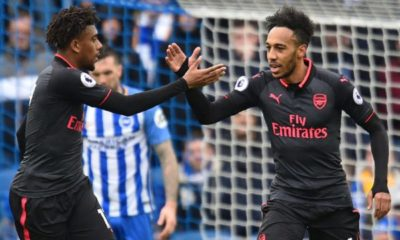 Alex Iwobi and Pierre-Emerick Aubameyang