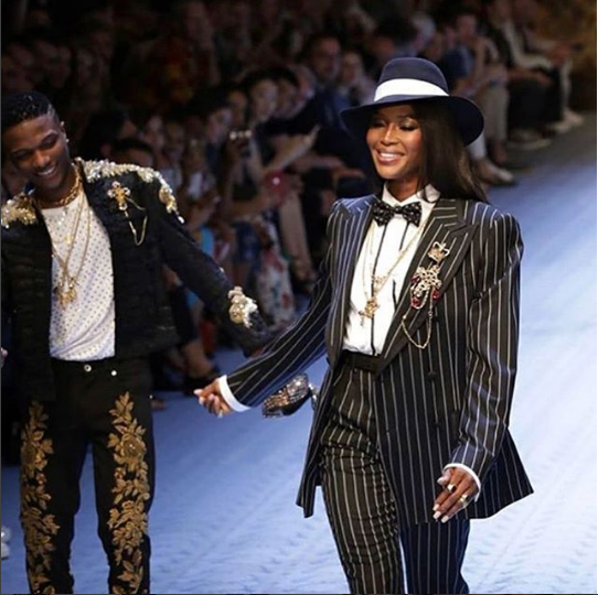 Wzikid and Naomi Campbell
