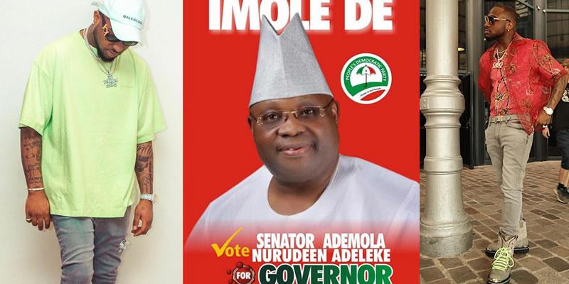 Davido Declares Support for PDP Candidate Senator Ademola Adeleke