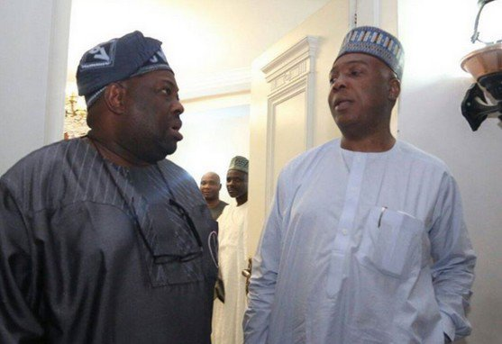 Dele Momodu and Bukola Saraki