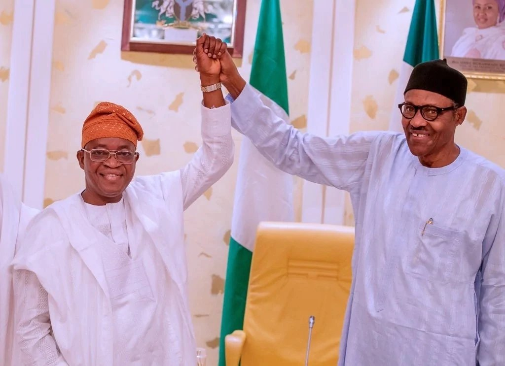 Gboyega Oyetola and President Buhari 00