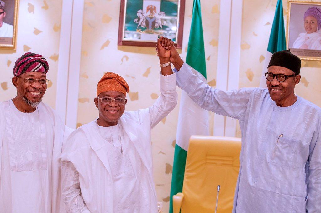 Gboyega Oyetola and President Buhari