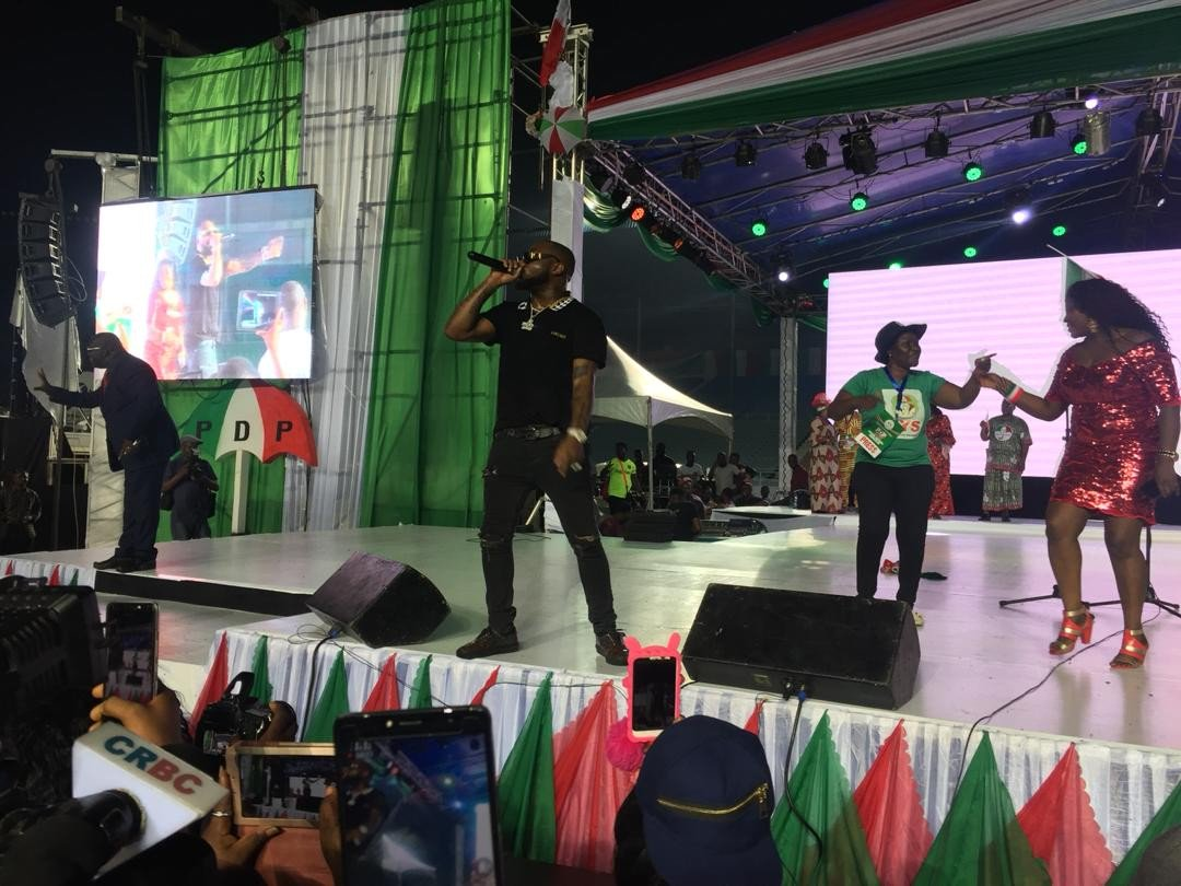 Davido Performed At Presidential Primary of PDP In Port-Harcourt