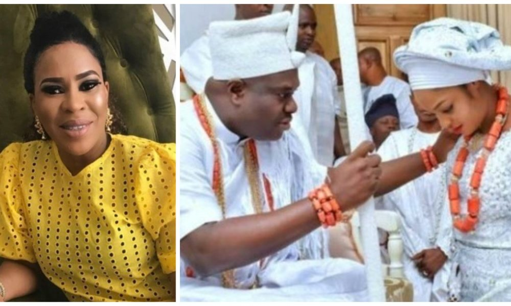 Faithia Williams reacts to Ooni third marriage