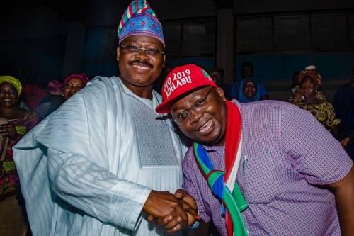Gov Abiola Ajimobi and Bayo Adelabu