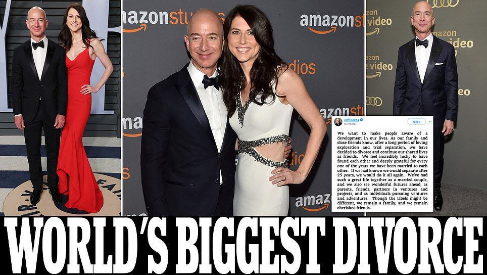 Jeff Bezos and wife MacKenzie announce divorce