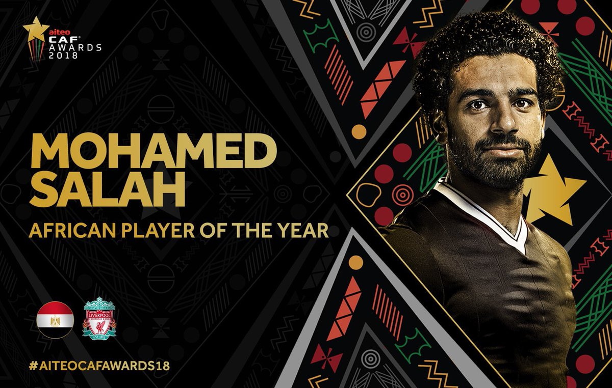 Mohamed Salah Named CAF African Player of the Year 2018