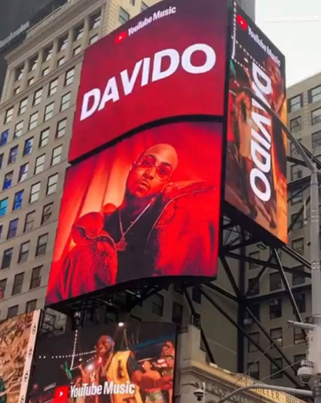 Davido On Times Square Screen