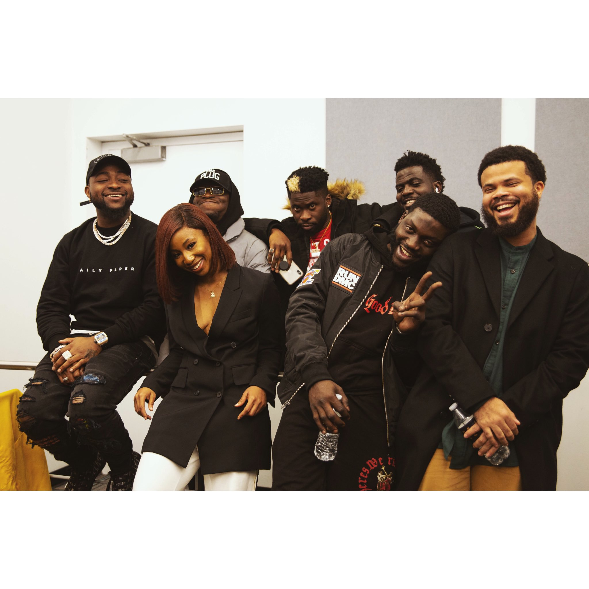 Davido and DMW Crew with Amarachi Nwosu