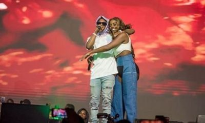 Wizkid and Tiwa Savage Romance On Stage
