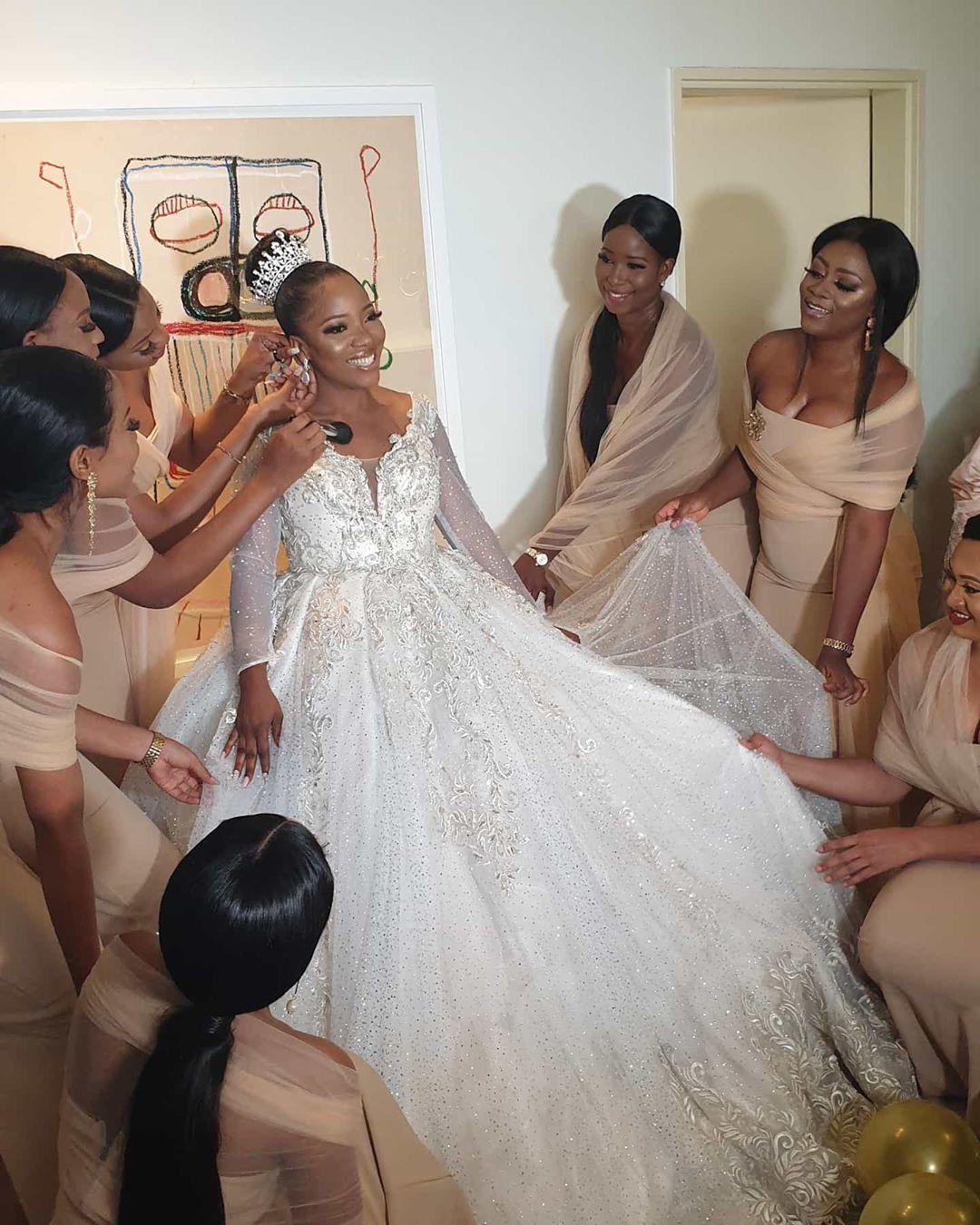 Sandra Ikeji Breaks Guinness World Record with Her White Wedding 00
