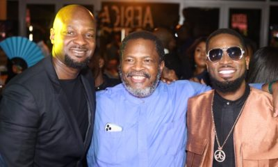 Alex Okosi, Nduka Obaigbena and D'banj