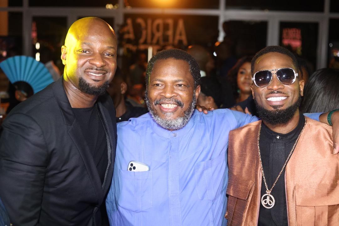 Alex Okosi, Nduka Obaigbena and D'banj