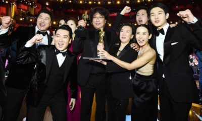 Parasite Crew At Oscars Awards 2020
